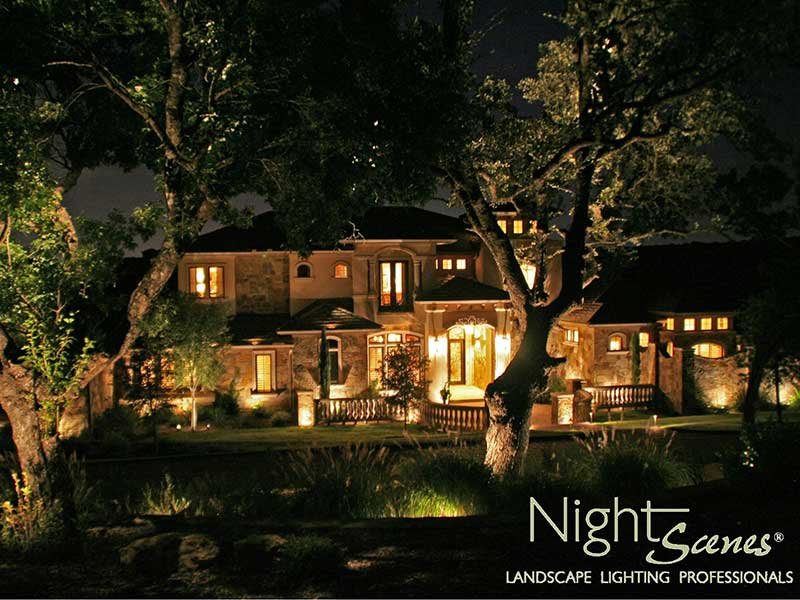 Austin custom homes deserve custom outdoor lighting nightscenes barton creek aloadofball Images