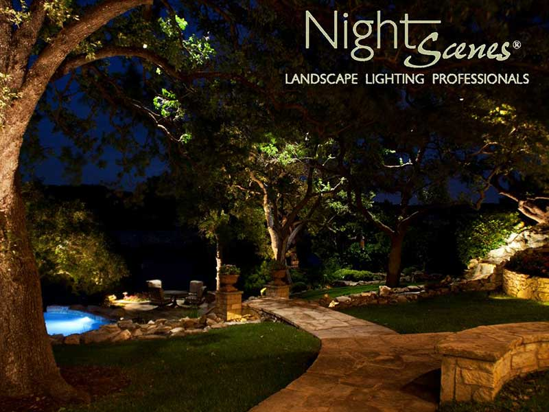 residential outdoor landscape lighting nightscenes landscape