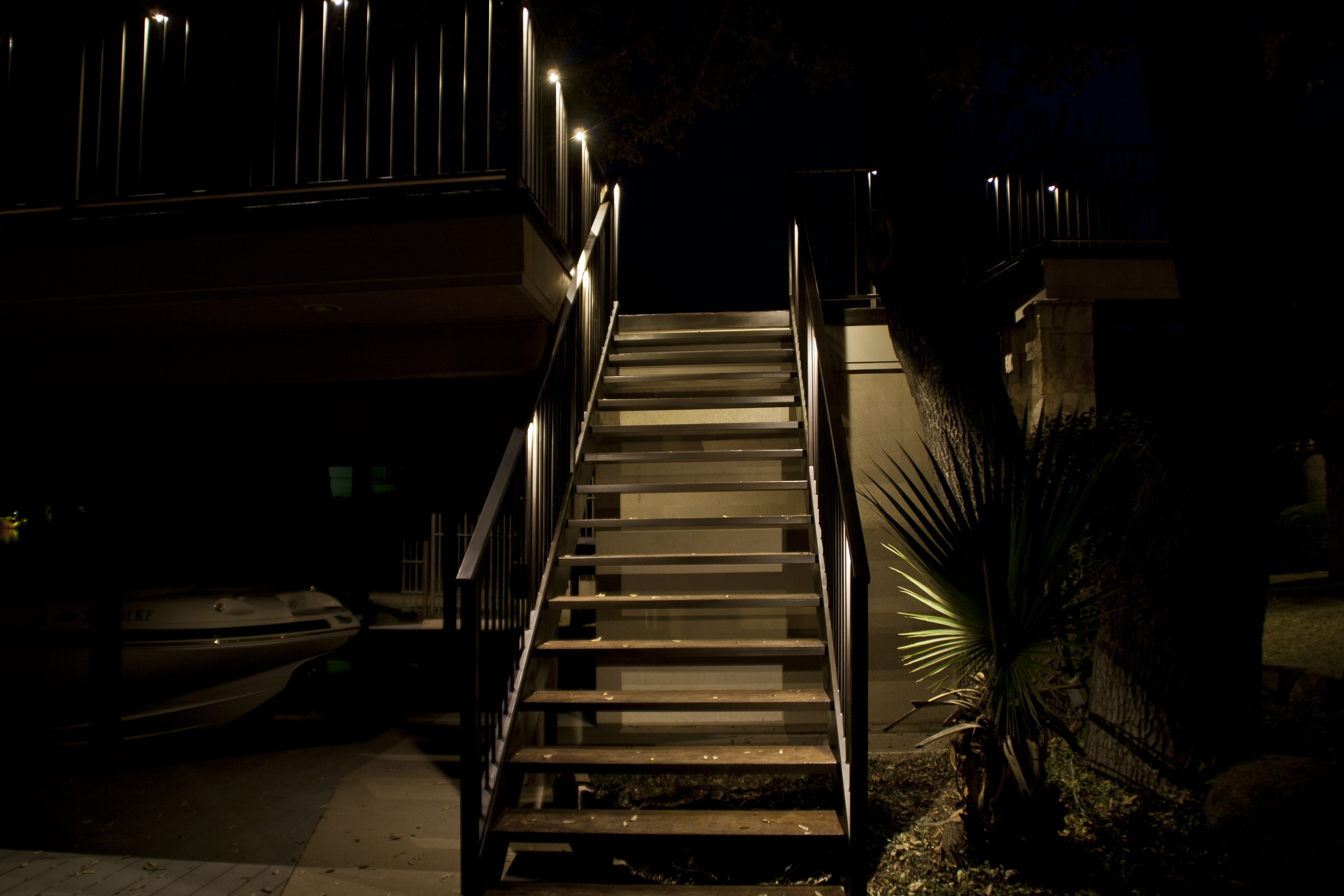 deck lighting design. High Stairs Deck Lighting Design .